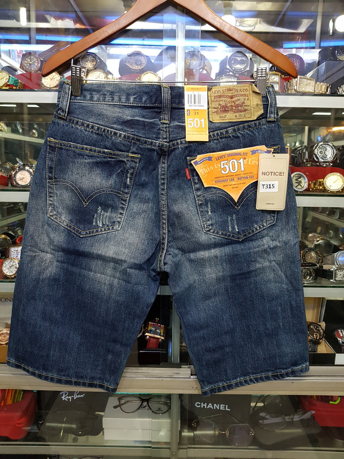 Jual Celana pendek Levis 501   celana jeans pendek pria - Biru 474e9a3473