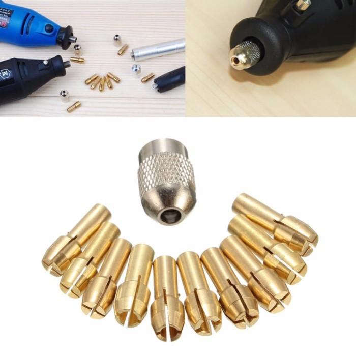 harga 10pcs collet chuck 0.5-3.2mm bor mini drill grinder rotary tools *kc06 Tokopedia.com