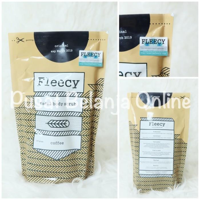 Fleecy face n body scrub coffe kopi  / lulur / original / aman / bpom