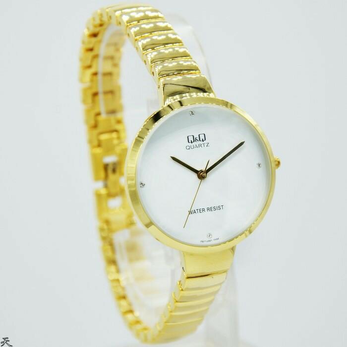 harga New jam tangan wanita original q&q qq qnq f-611 stainless #1 Tokopedia.com