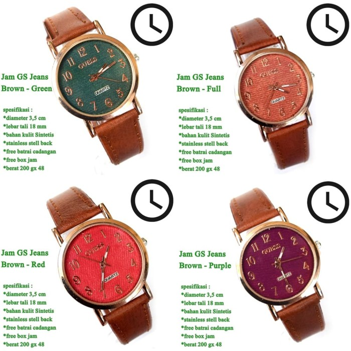 harga Jam tangan casual kulit jeans guess full set Tokopedia.com
