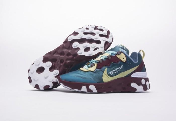 2fbf69102c12 Jual Nike Epic React Element 87 x Undercover - Aqua Volt UA Quality ...