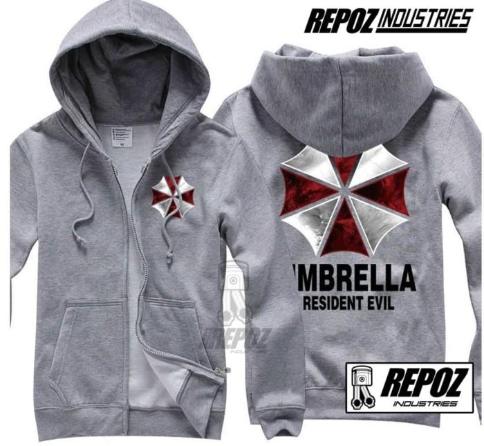 Foto Produk jaket sweater hoodie zipper abu umbrella resident evil terbaru terlari dari Ben Jaya Store