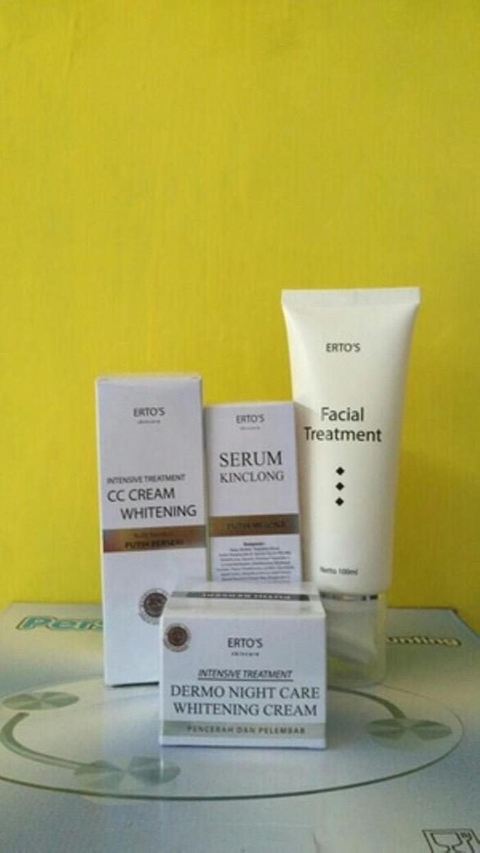 Jual Paket Ertos Facial Treatment Cc Cream Night Serum Berkualitas