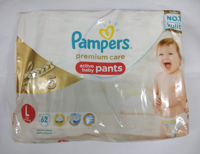 Pampers premium care pants l 62 pcs