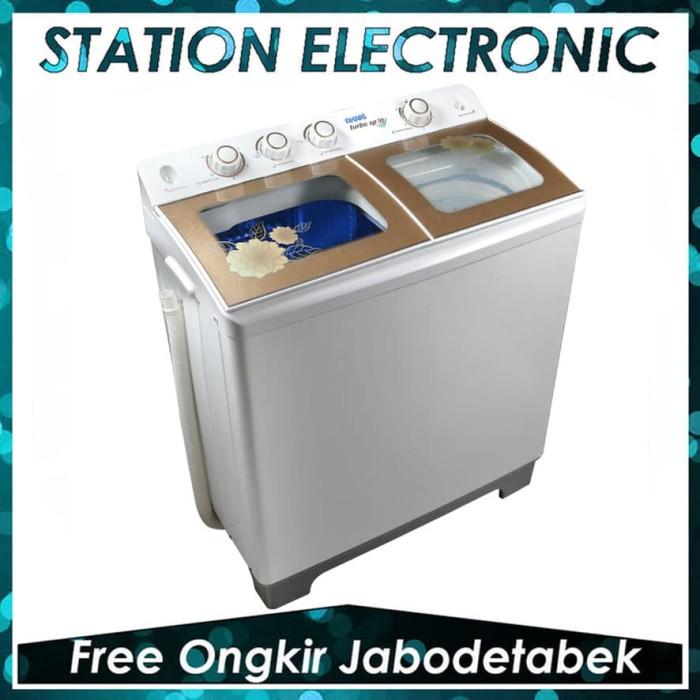 harga Akari awm-12sk mesin cuci 2 tabung 12 kg [tempered glass/bluwash] Tokopedia.com