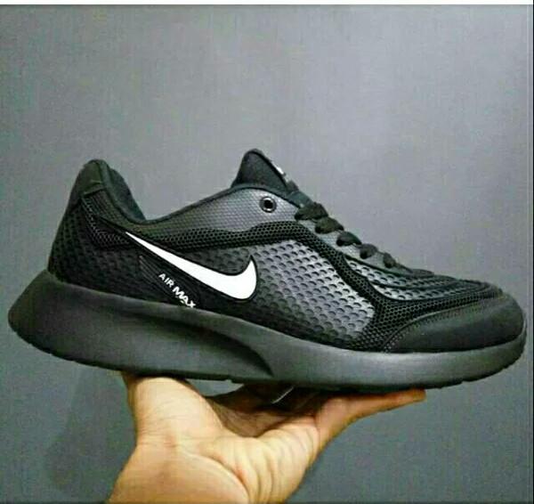 ... harga Sepatu nike air max hitam polos list putih fullblack sekolah murah  Tokopedia.com 49233c3605
