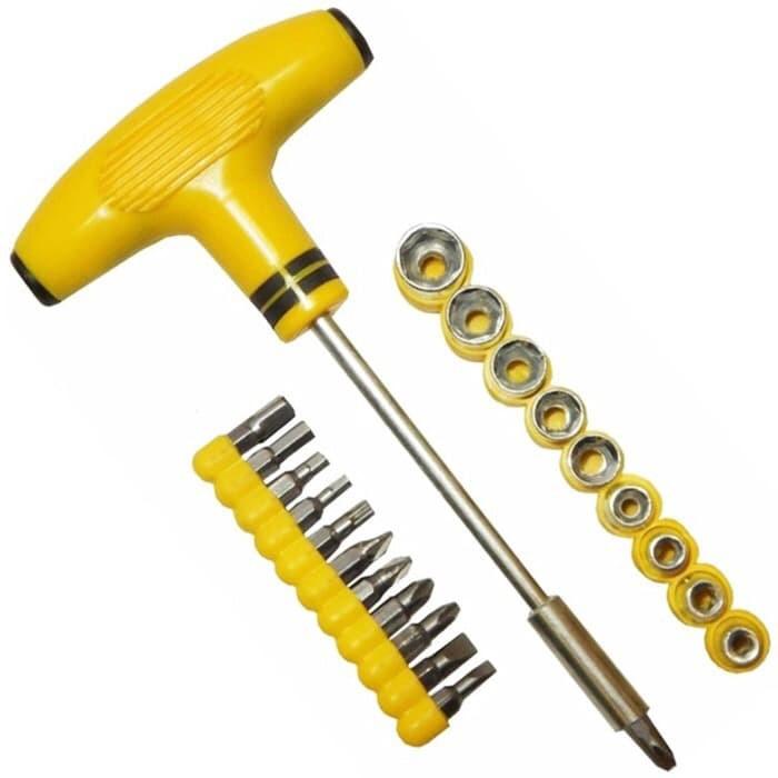 Foto Produk obeng kunci sock T plus palu screwdriver dari grosirltc