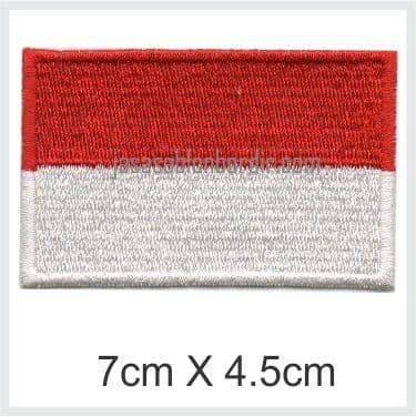 Emblem Badge Bordir Bendera Indonesia 7cm X 4.5cm - Blanja.com