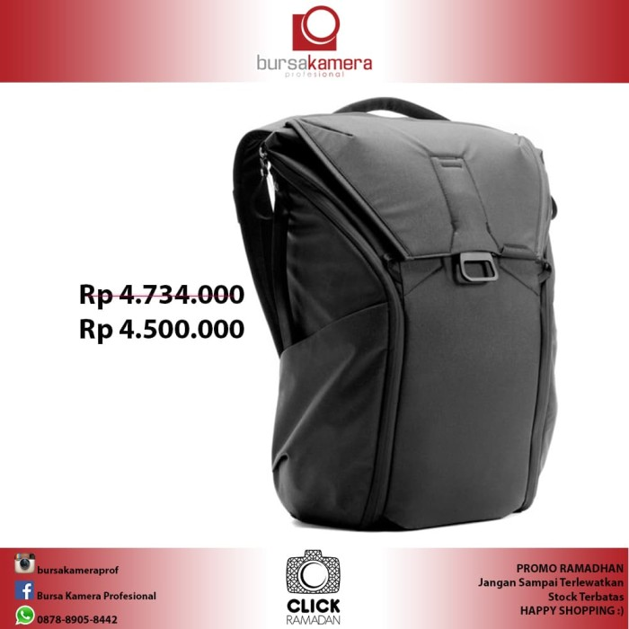 Peak design everyday backpack 20l black 503cc204a9
