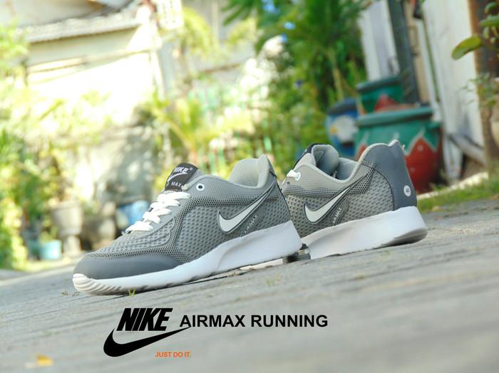harga Sepatu nike airmax running abu putih - gym olahraga casual pria wanita  Tokopedia.com 068d525dd0