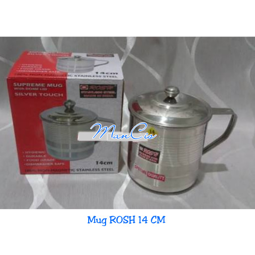 harga Mug rosh 14 cm stainless steel / gelas tutup stainless Tokopedia.com