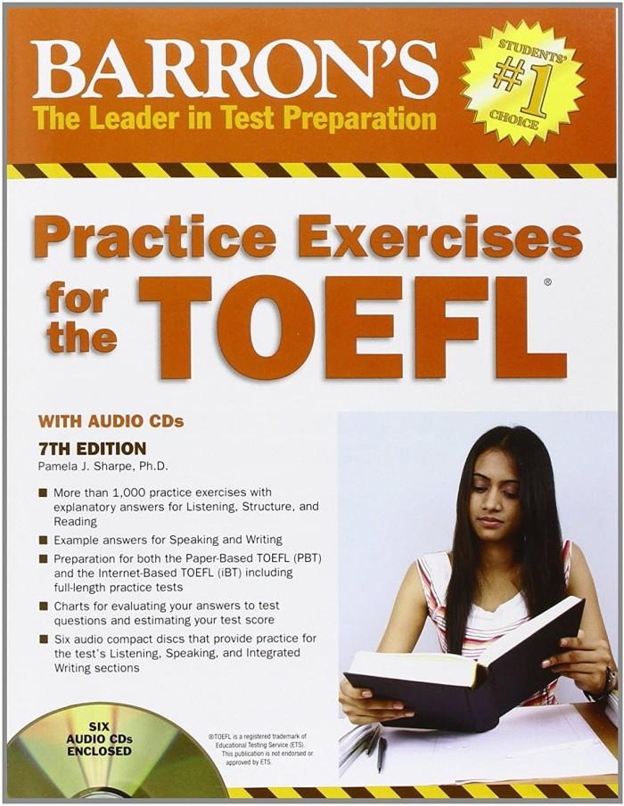 harga Buku barron practice exercises for the toefl with cd 7th edition Tokopedia.com