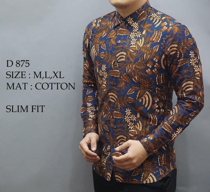harga Baju kemeja batik pria slim fit modern lengan panjang cb-342 Tokopedia.com