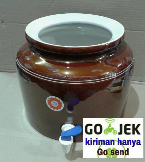 harga Guci air,guci galon/guci keramik gambar ukir trisensa Tokopedia.com