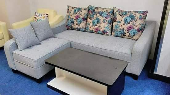 Jual Sofa L Ruang Tamu Minimalis Hijau Muda Kota Tangerang Selatan El Shaddai Furniture Tokopedia