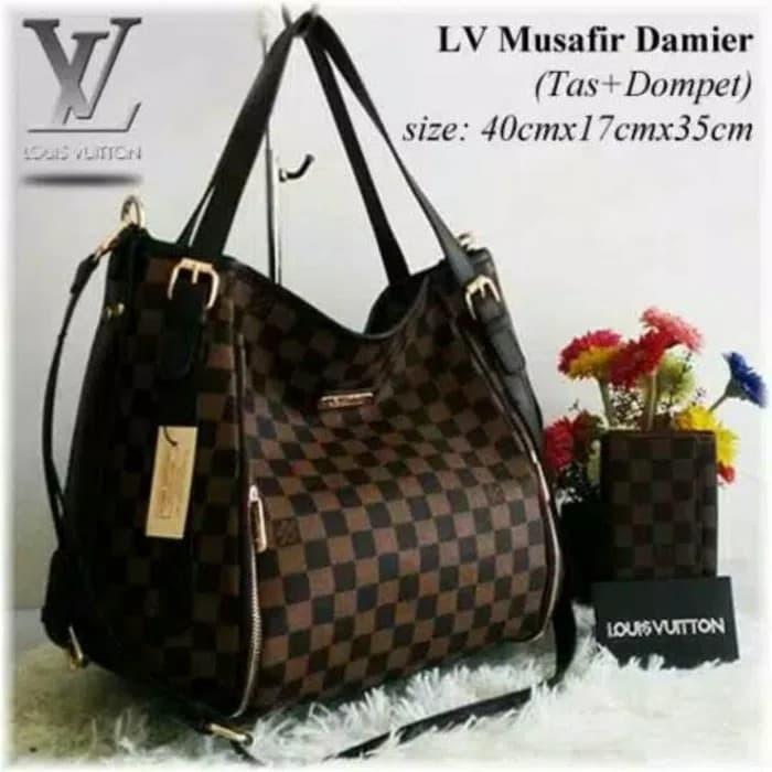 Jual Tas LV Musafir + Dompet  Handbag LV Besar  Tas Terbaru  Tas ... 4dbd842418