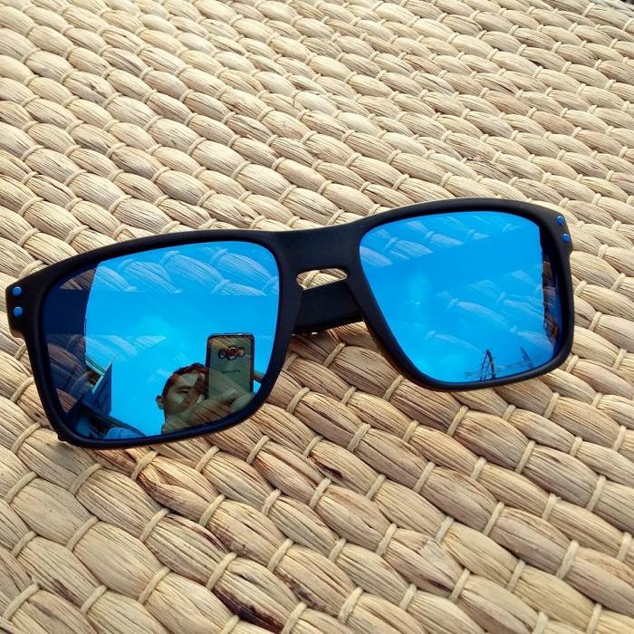 harga Kacamata pria hollbrook hitam dop lensa biru polarized anti silau Tokopedia.com