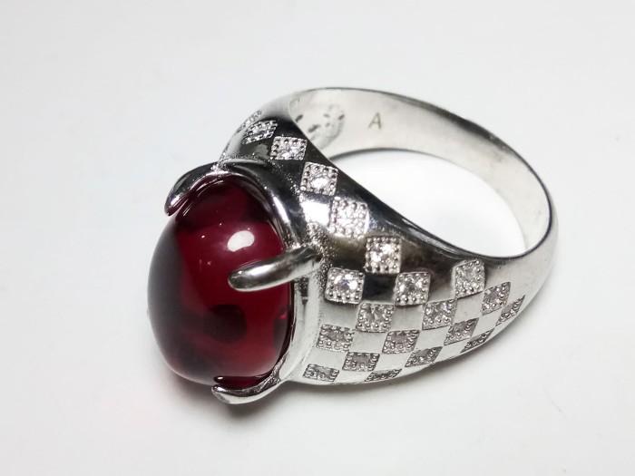harga Vee ring emban cincin alpaka super import batu merah delima siam m2 Tokopedia.com