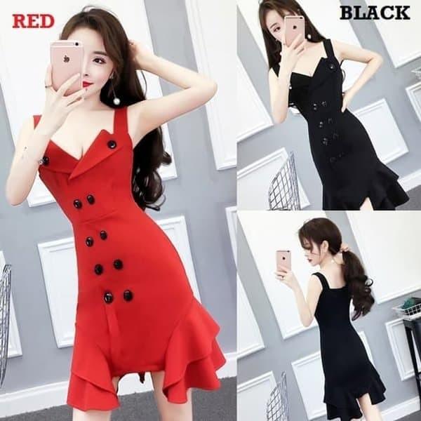 harga Promosb2356 mini dress bodycon sexy import-party dress-baju gaun pesta Tokopedia.com