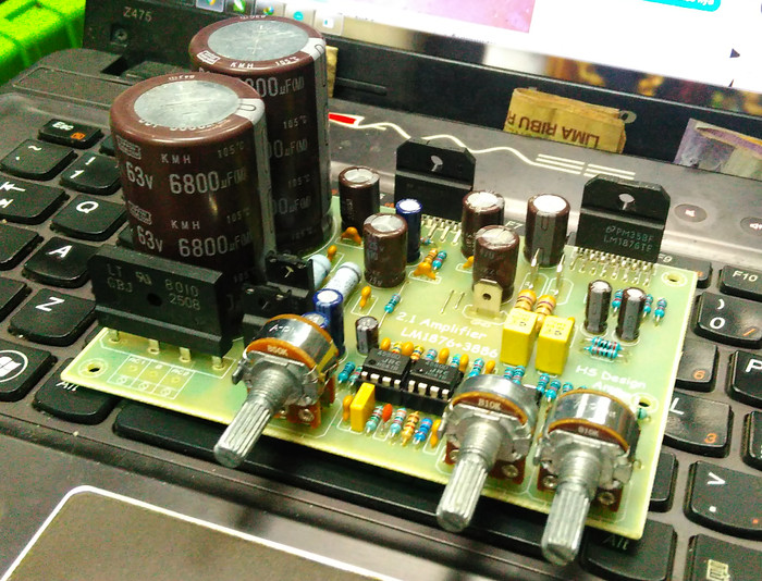 Jual KIT 2 1 Amplifier 1876+3886 gainclone