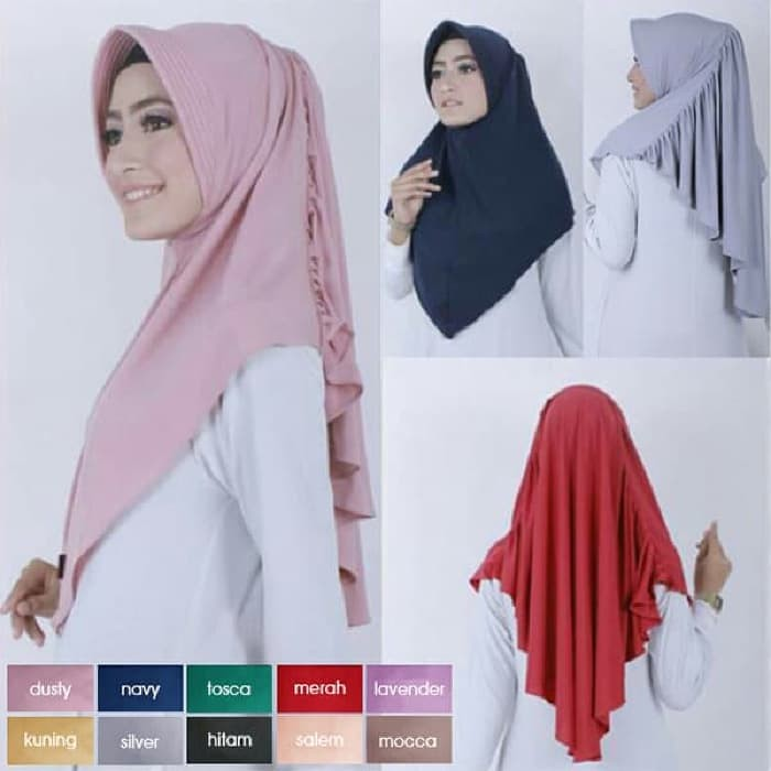 Jual Hijab Jilbab Bergo Laras Bahan Jersey Zoya Cocok Untuk