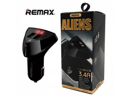 Foto Produk Remax Car Charger 3.4A RCC208 / Remax aliens With LED Voltage dari Queen-accessories