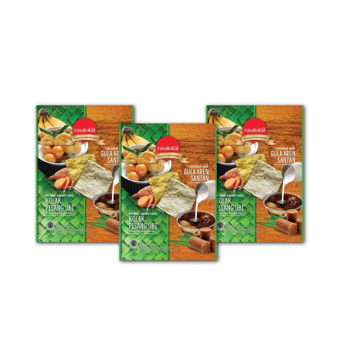 harga Paket isi 3 rasalokal kolak pisang ubi dengan cocolan asli gula aren Tokopedia.com