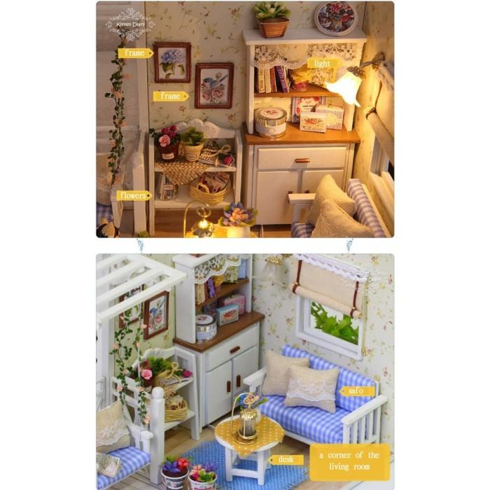 harga Miniatur rumah boneka 3d diy 1:24 Tokopedia.com