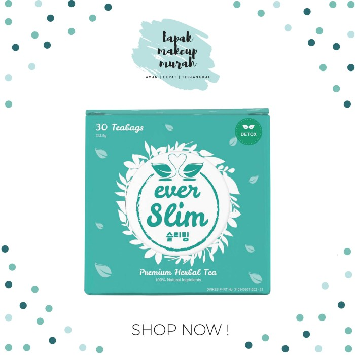 harga Everslim premium herbal tea / teh pelangsing / by everwhite Tokopedia.com