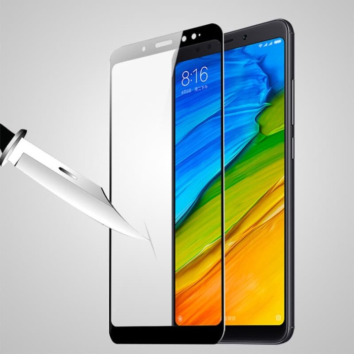 Tempered Glass Anti Gores Kaca Xiaomi Redmi Note 5 Pro Full Cover