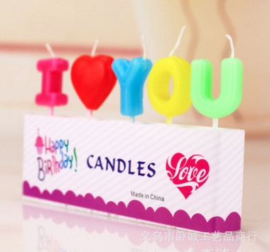 lilin karakter kue ulang tahun i love you cinta valentine