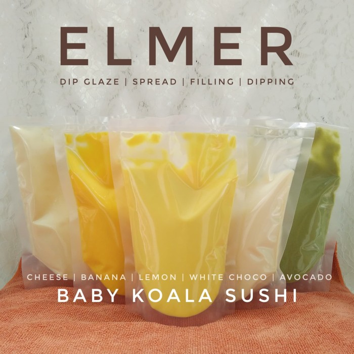 harga Elmer banana 500gr - selai spread dipping glaze pisang topping donut Tokopedia.com