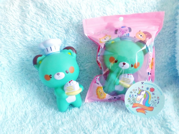 Jual Squishy bear koki squishy bear green bear chef gratis packaging ... 18a257ef6a81