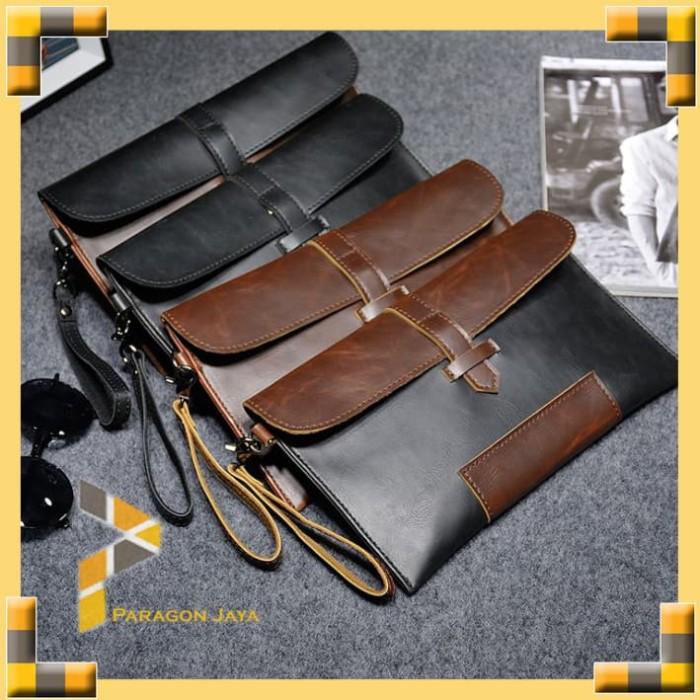 Clucth pria wanita hand bag korea import dompet kulit kuda 8117 539b86d723
