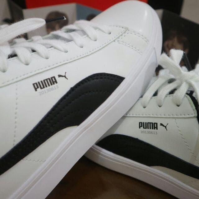 sale retailer 47863 9dfd1 Jual REAL PIC [ORI] BTS x PUMA - COURT STAR SHOES UNISEX - Putih, 43 -  Premium ID | Tokopedia