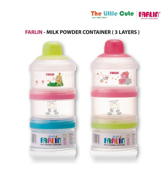 Farlin milk powder container 3 layers / tempat susu bubuk
