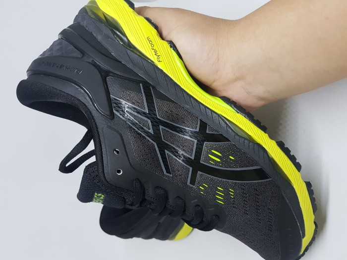 Jual Sepatu Running.Gym.Volly Asics Gel Kayano 24 Black Green Murah ... 0beaee67e6