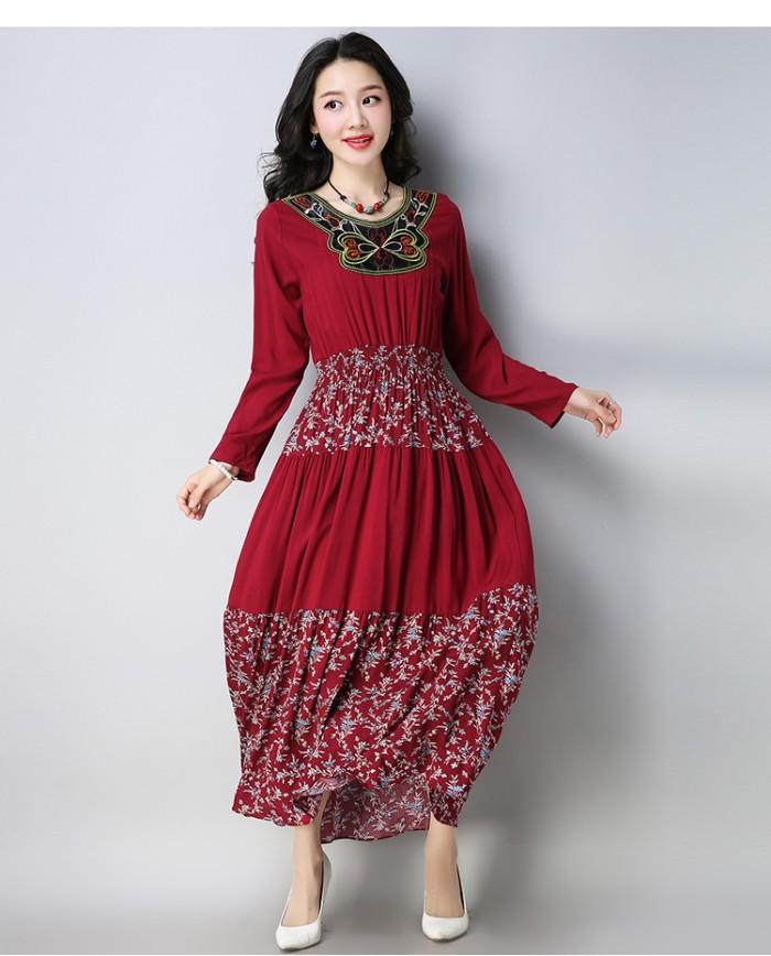 harga Gaun long dress boho bohemian red butterfly retro (xl) import original Tokopedia.com