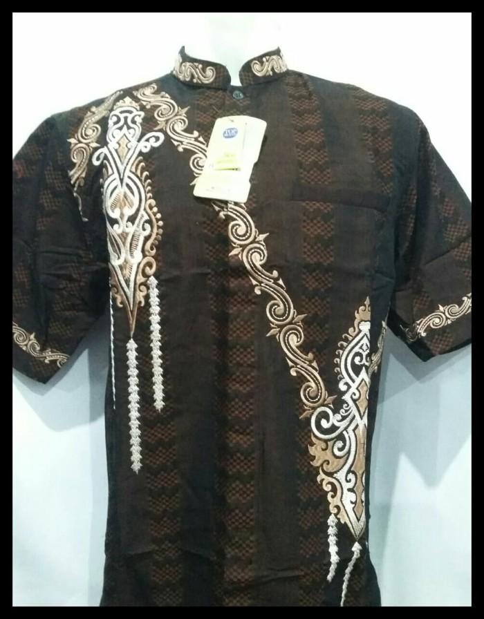 Foto Produk Kemeja Muslim Pria Lengan Pendek - Baju Koko Original - Benhil - Navy, XXL dari viral yours