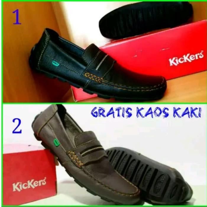 #Sepatu Slip On Sendal sepatu Kickers Pria Sandal Kulit Asli Murah