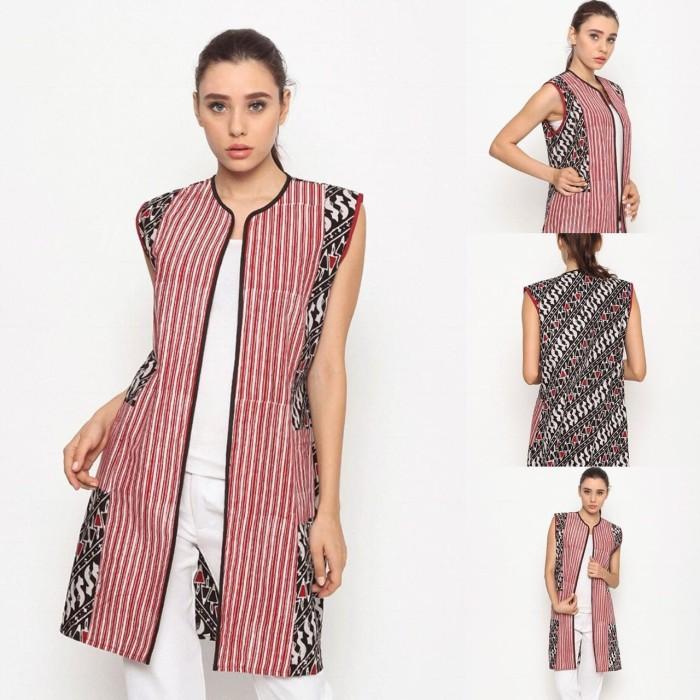 harga Baju blouse atasan batik wanita modern nona rara, bolero saku t0049 Tokopedia.com