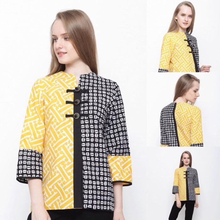 harga Baju blouse atasan batik wanita modern nona rara, mixmatch yb t0065 Tokopedia.com
