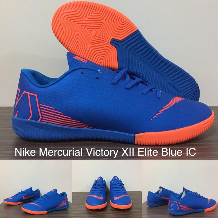 53bc53ecf209 Jual SEPATU FUTSAL NIKE MERCURIAL VICTORY XII ELITE BLUE IC - Kota ...