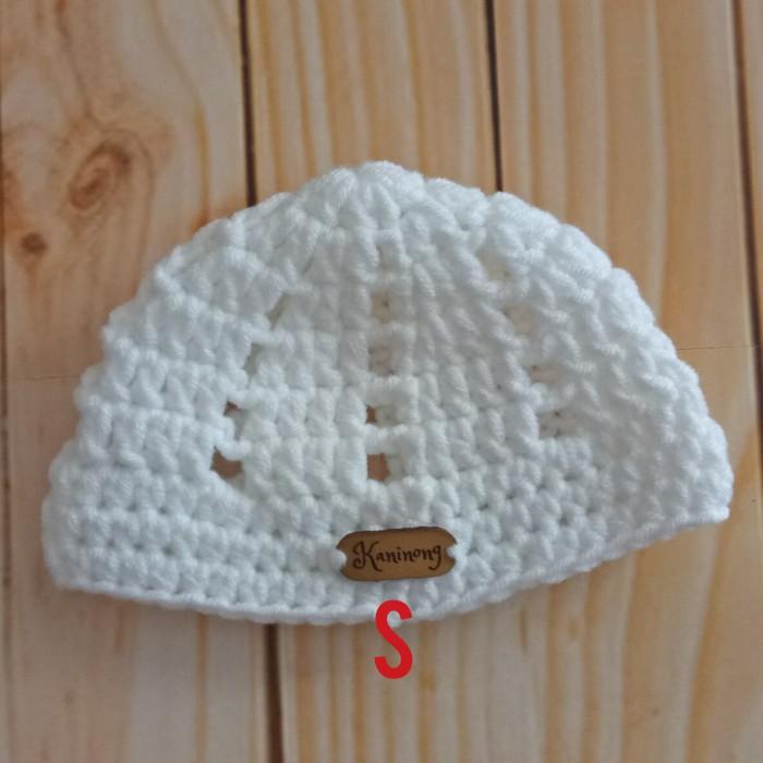 Topi Peci (Kopiah) Bayi Rajutan Hand Made untuk umur 0-3 bulan
