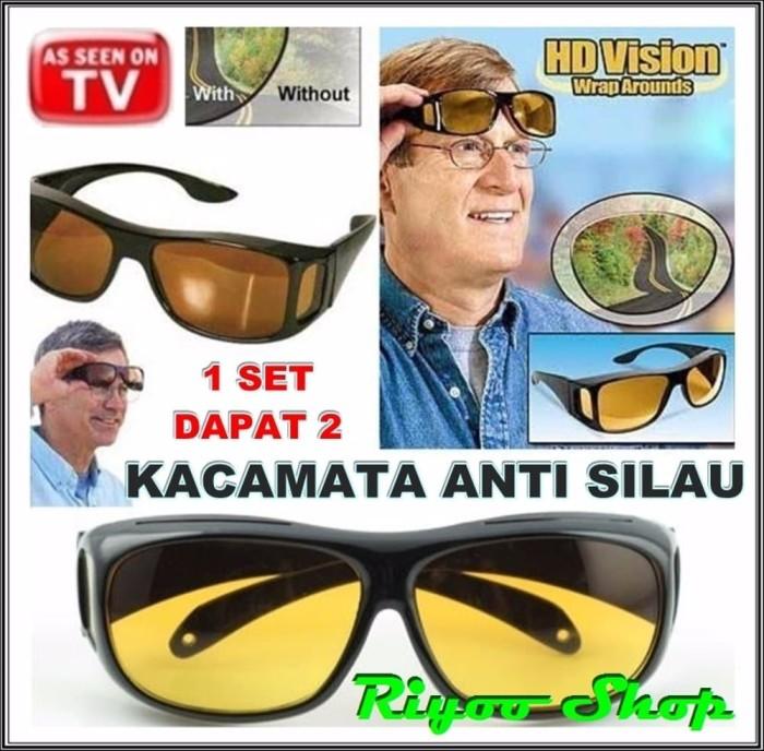 Jual DIJUAL Kacamata Anti Silau Night HD Vision Isi 2 Siang Malam ... ad9449c23a