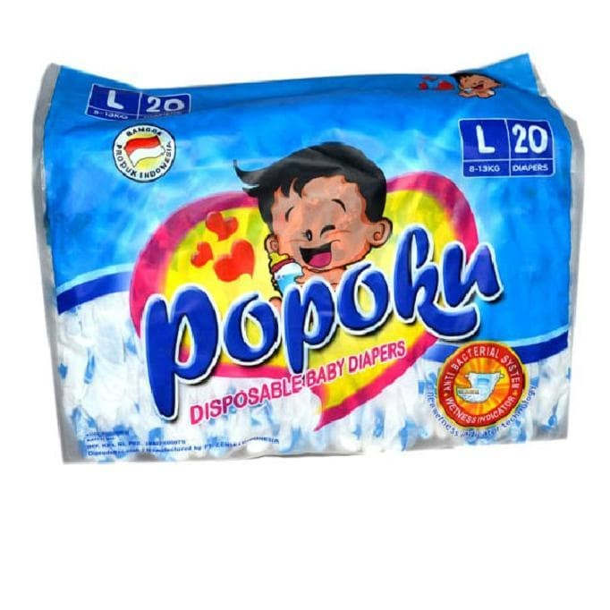 harga Popok bayi tipe perekat (popoku) size l isi 20pcs Tokopedia.com