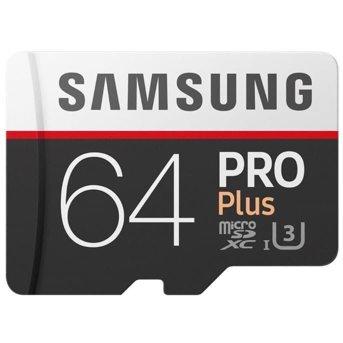 harga Samsung microsdxc pro plus uhs-1 64gb with sd adapter - mb-md64ga Tokopedia.com