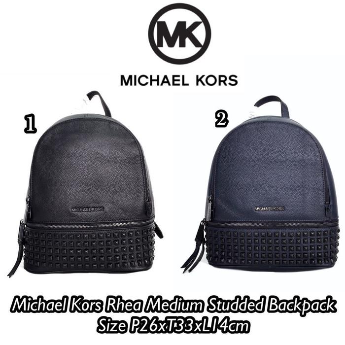 e6ceec918a43b5 Jual Michael Kors RheA Medium Studded Backpack - celinebaglovers ...
