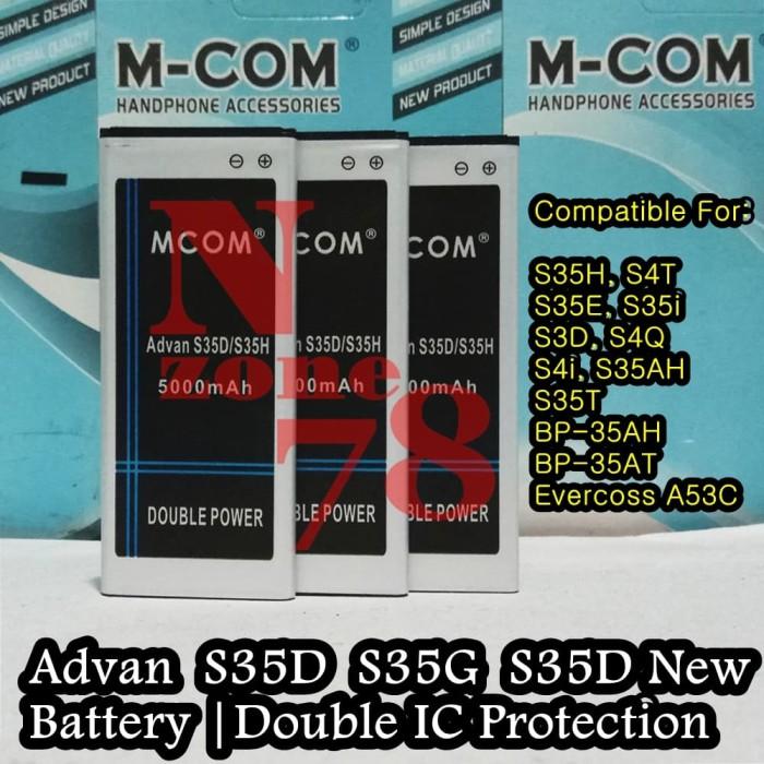 harga Baterai advan vandroid s35d new s4i s3d s35h s35g double power Tokopedia.com